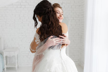 Luxury Bride Hugging Bridesmai...
