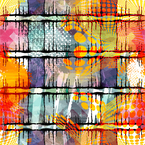 colored abstract seamless p...