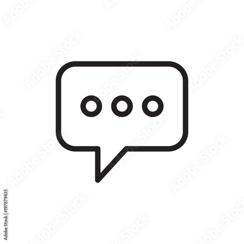 Photo message speech bubble outlined vector icon