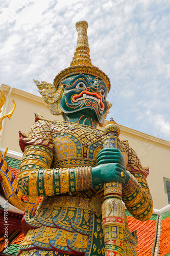 Wall Murals Place of worship Giant in Grand Palace the Emerald Buddha Temple Thailand