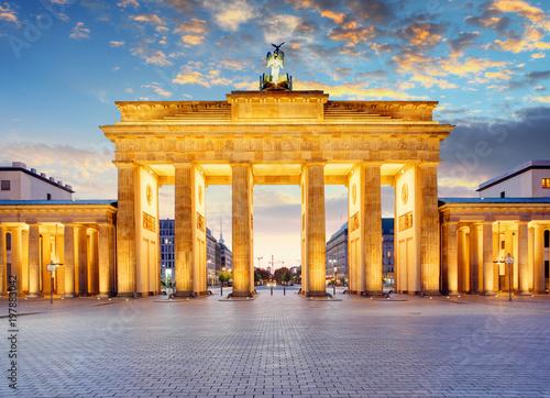 Zdjęcie XXL Berlin - Brama Brandenburska w nocy