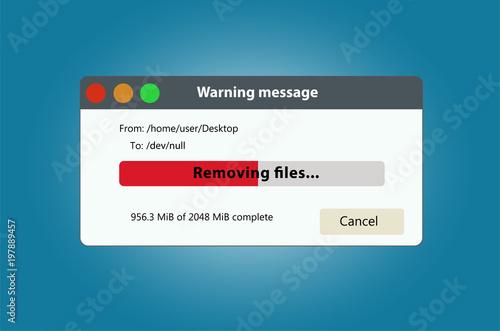 Fotomural Remove files and data progress bar