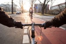 First-person View Of Cyclist I...