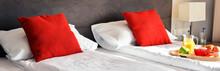 Breakfast On Tray In Bed In Ho...
