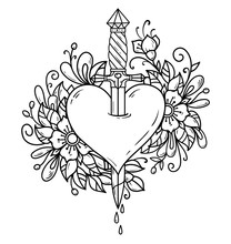Heart Decorated With Flowers P...
