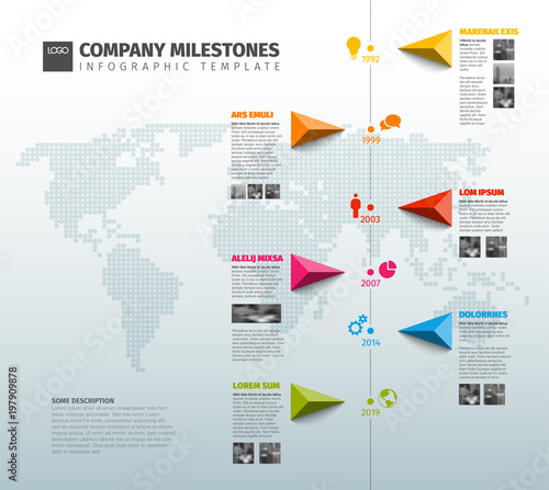 vector infographic company history timeline template buy this