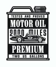 Monochrome Vintage Motor Oil C...