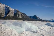 Abraham Lake Winter Landscape ...