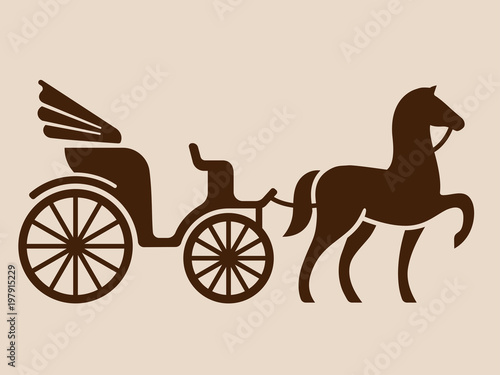 Vintage horse drawn carriage Wallpaper Mural