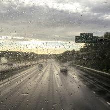 Rain Water Droplets On A Car W...