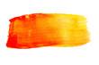 canvas print picture - Rot gelb Orange wasserfarben muster Pinselstrich