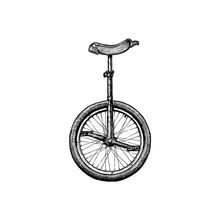 Illustration Of Unicycle