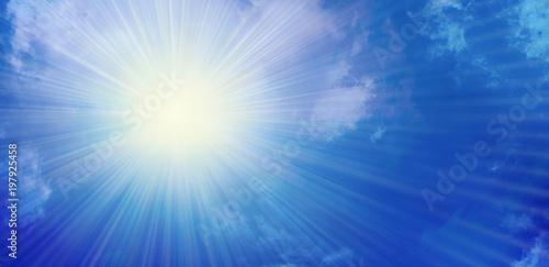 Fototapeta sonne sunlight soleil obraz na płótnie