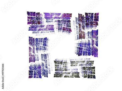 geometric decorative background, fractal Wallpaper Mural