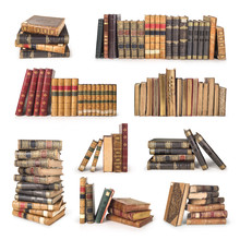 Set Of Old Vintage Books Isola...