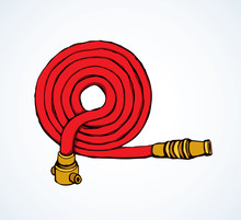 Fire Hose. Vector Drawing