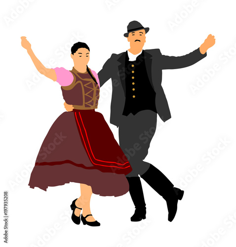 Fototapety Muzyka hungarian-folk-dancers-couple-vector-germany-folk-dancers-couple-austrian-folk-dancers-couple-east-europe-folklore-couple-in-love-dancing-balkan-folk-folklore-event-on-wedding-ceremony