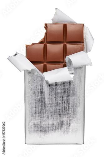 Fotografia, Obraz  Chocolate bar isolated