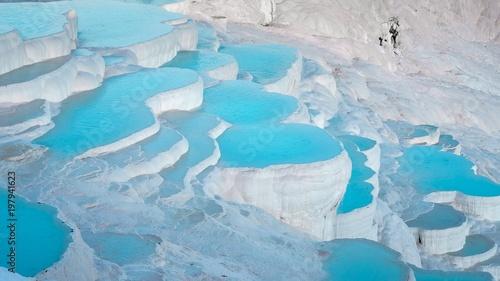 Fotobehang Midden Oosten Pamukkale, blue ice (Turkey)
