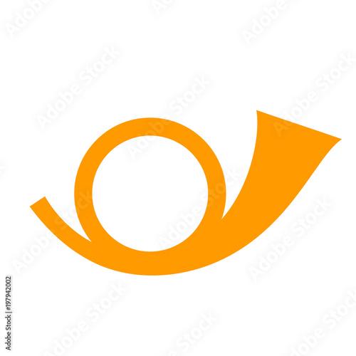 Fotografía  Post horn vector icon