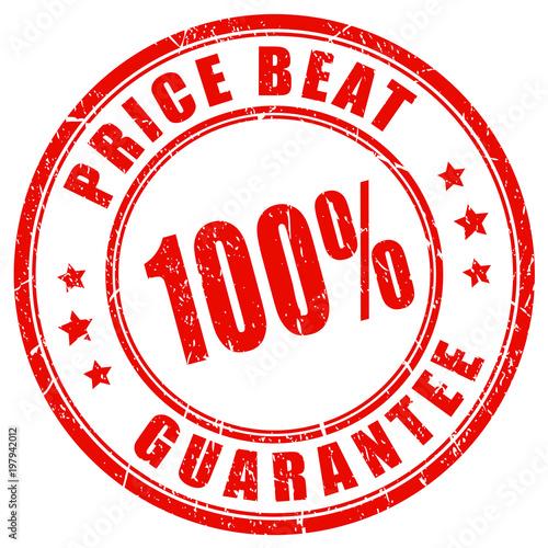 Price beat guarantee vector stamp Canvas Print