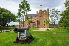 A Cannon In Front Of Castle Of Mey, Caithness, Scotland, Britain