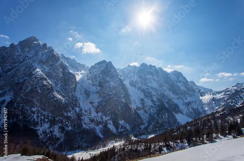 Bergwelt Wilder Kaiser in Tirol in Österreich im Winter #197947617