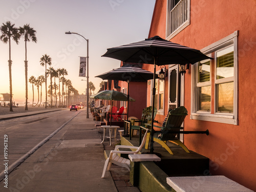 Sunset at the Strand - Oceanside, CA Canvas Print
