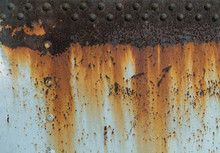 Metal Rust Texture With Rivets, Abstract Grunge Background