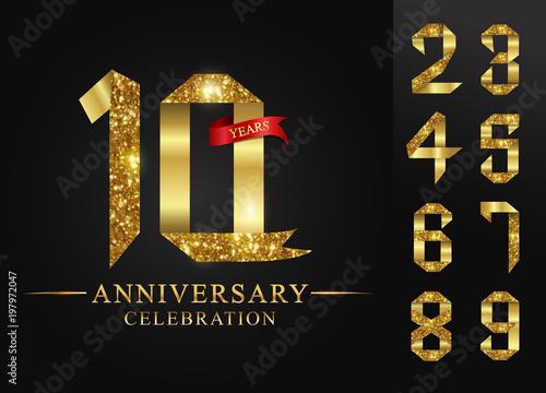 Photographie 10 - 90 years anniversary, 0 - 9 Numbers