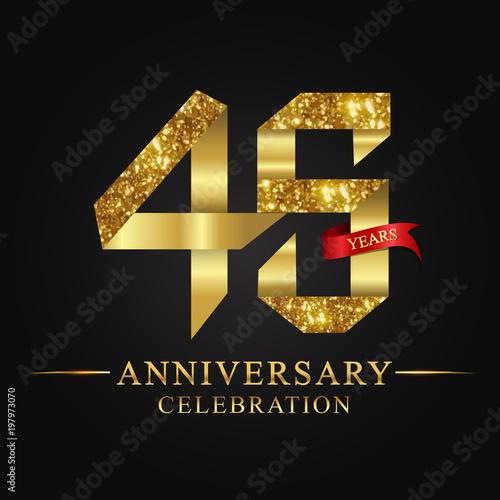 Plakat anniversary, aniversary, 45 years anniversary celebration logotype