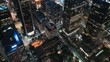 Los Angeles Downtown Financial District Aerial Time Lapse