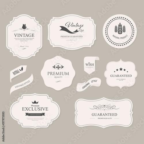 Fototapety, obrazy: set of vintage label and badges old fashion. banner illustration vector.
