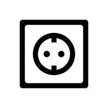 Socket Plug Icon Isolated Vect...