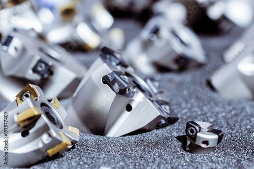 Fotografie, Obraz  Modern milling cutters for metal