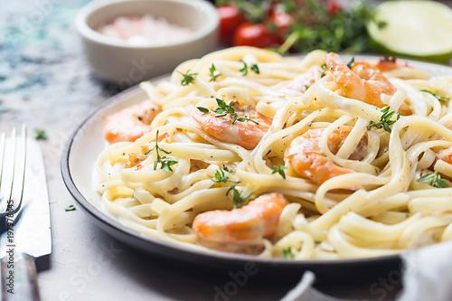 Italian pasta fettuccine