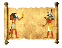 Old Parchment With Egyptian Go...