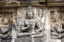 Bas-relief Of Meditating Buddh...
