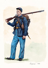 US Civil War Illustration. US ...