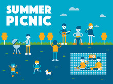Summer Picnic Concept Poster V...