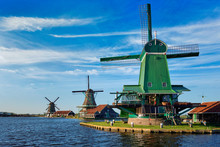 Windmills At Zaanse Schans In ...