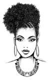 Portret afrykańska kobieta z kolią - 197990693