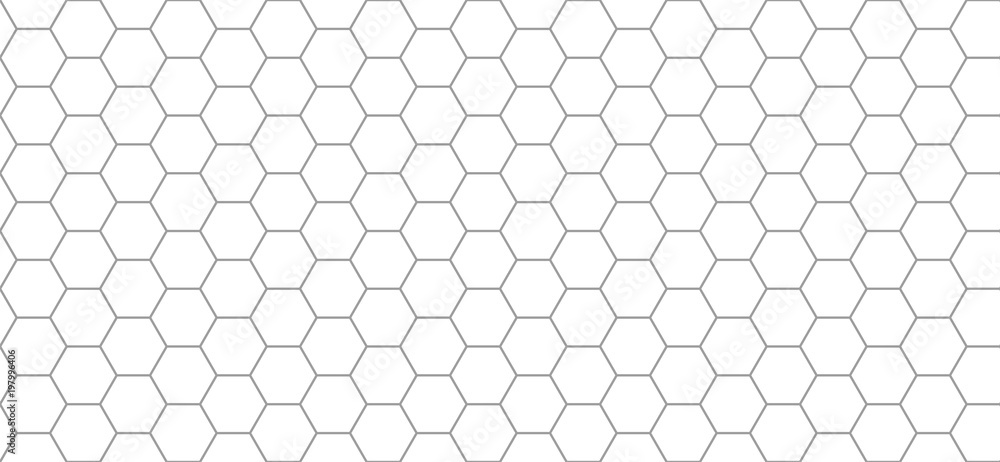Fototapety, obrazy: hexagon pattern. Seamless background. Abstract honeycomb background in grey color. Vector illustration