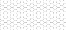 Hexagon Pattern. Seamless Background. Abstract Honeycomb Background In Grey Color. Vector Illustration