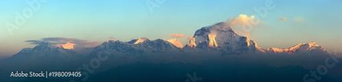 Fototapeta Mount Dhaulagiri morning panoramic view obraz na płótnie
