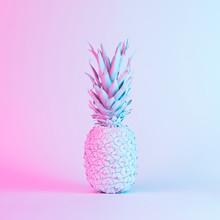 Pineapple In Vibrant Bold Grad...
