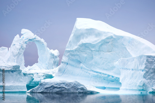 Foto op Canvas Antarctica Ice Formation in Antarctica. Just beyond the Gerlache Straits is where this Ice Garden exists