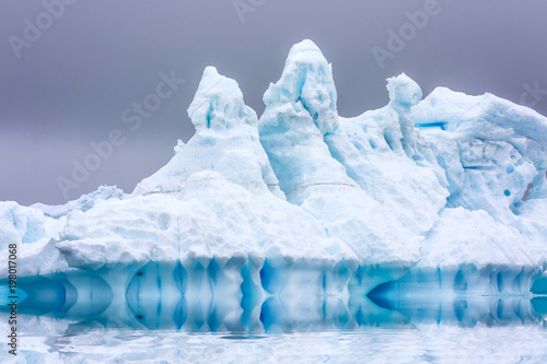 Ice Formation in Antarctica. Just beyond the Gerlache Straits is where this Ice Garden exists