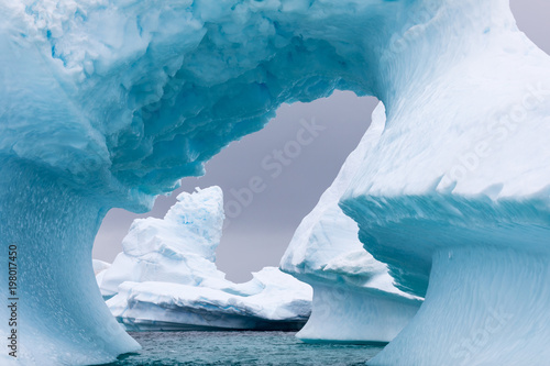 Foto op Canvas Antarctica .Ice Formation in Antarctica. Just beyond the Gerlache Straits is where this Ice Garden exists