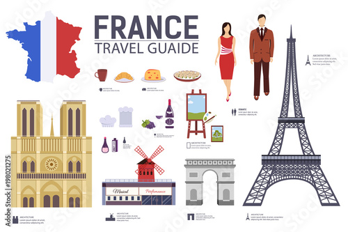 Photo  Country France travel vacation guide of goods, places and features